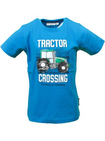 "Salt and Pepper Koszulka ""Tractor"" w kolorze niebieskim"