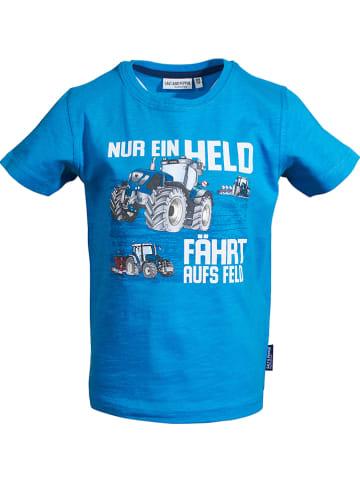 "Salt and Pepper Shirt ""Tractor"" in Blau"