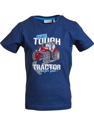 "Salt and Pepper Shirt ""Tractor"" donkerblauw"