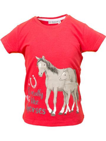 """Salt and Pepper Shirt """"Riding"""" rood"""
