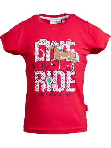 """Salt and Pepper Koszulka """"Riding"""" w kolorze czerwonym"""