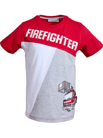 """Salt and Pepper Shirt """"Rescue"""" in Rot"""