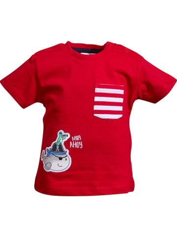 """Salt and Pepper Koszulka """"Ahoy"""" w kolorze czerwonym"""