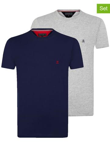 "SIR RAYMOND TAILOR 2-delige set: shirts ""Pancha"" grijs/donkerblauw"