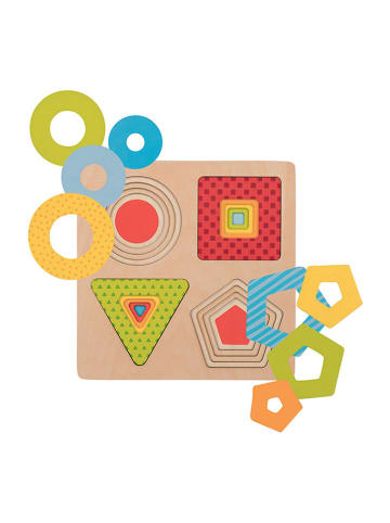 """Goki Puzzle warstwowe """"4 kształty geometryczne"""" - 16 el. - 2+"""