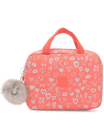 "Kipling Handtas ""Lounas"" rood/roze - (B)24 x (H)18,5 x (D)8,5 cm"