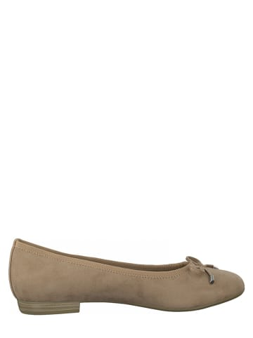 Marco Tozzi Ballerinas in Taupe