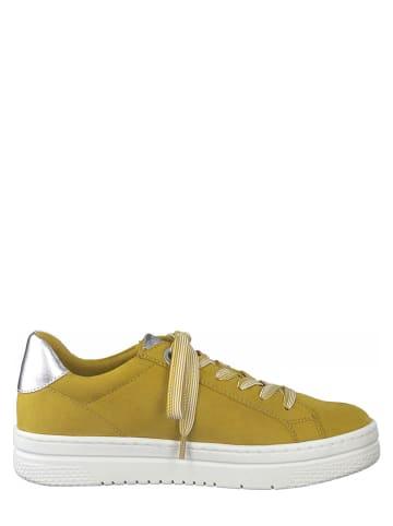 Marco Tozzi Sneakersy w kolorze żółtym