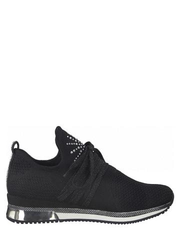 Marco Tozzi Sneakersy w kolorze czarnym