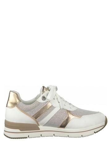Marco Tozzi Sneakers wit/goudkleurig