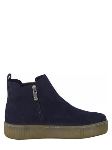 Marco Tozzi Chelsea-Boots in Dunkelblau