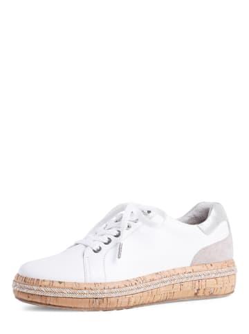 Tamaris Leder-Sneakers in Weiß