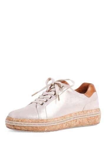 Tamaris Leren sneakers goudkleurig
