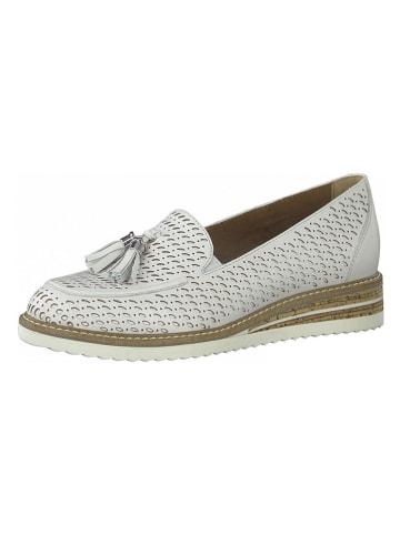 Tamaris Skórzane slippersy w kolorze białym