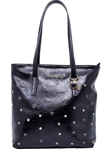 "Melli Mello Shopper ""To the Stars"" donkerblauw - (B)35 x (H)34 x (D)11 cm"