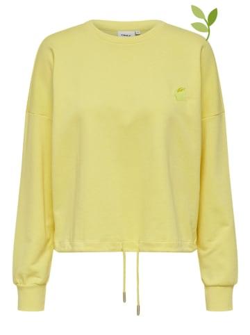 """ONLY Bluza """"Onlnubi Life"""" w kolorze żółtym"""