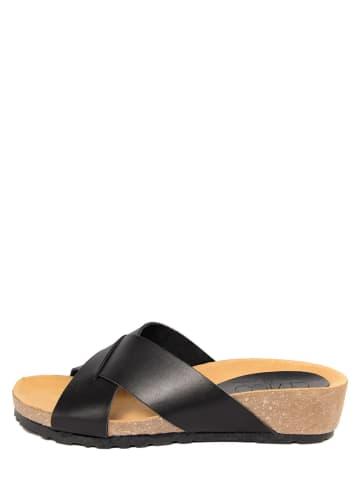 CIVICO 61 Leren slippers zwart