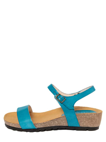 CIVICO 61 Leren sandalen blauw