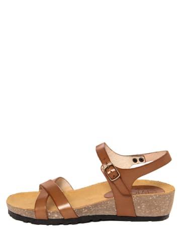 CIVICO 61 Leren sandalen bruin