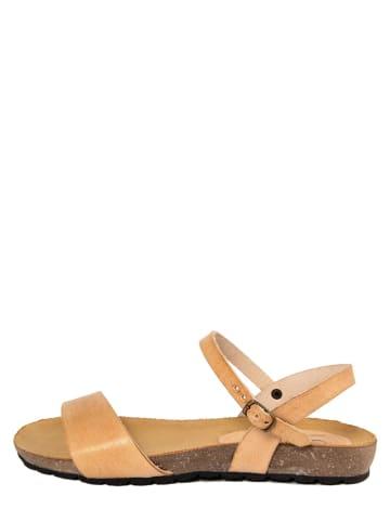 CIVICO 61 Leren sandalen beige