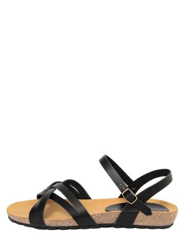 CIVICO 61 Skórzane sandały w kolorze czarnym