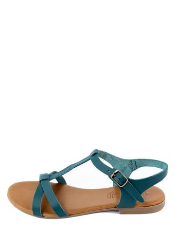 Triple Sun Leren sandalen blauw