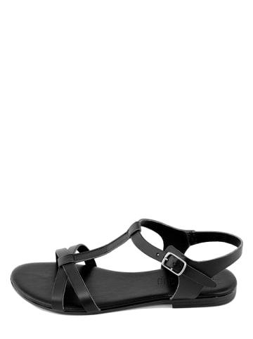 Triple Sun Leren sandalen zwart