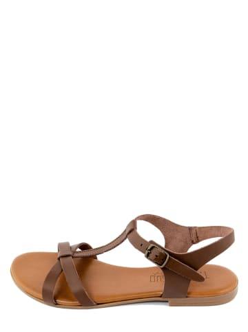 Triple Sun Leren sandalen bruin