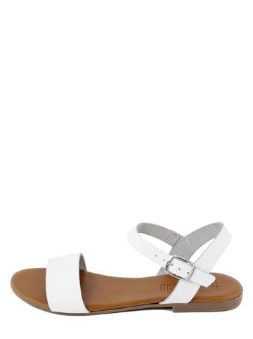 Triple Sun Skórzane sandały w kolorze białym