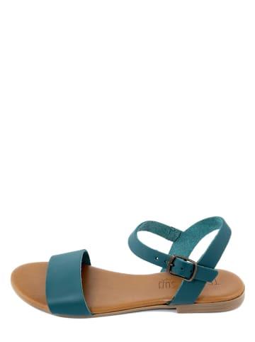 Triple Sun Skórzane sandały w kolorze niebieskim