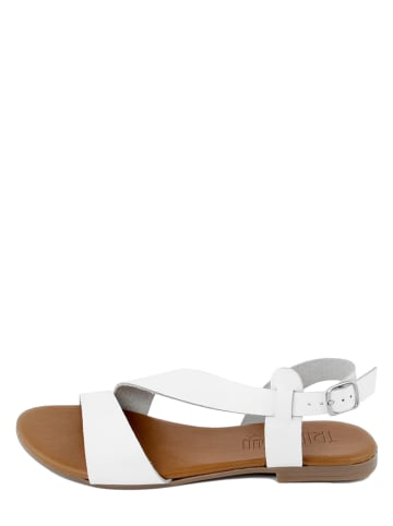 Triple Sun Leren sandalen wit