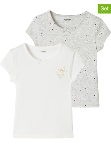 Vertbaudet 2-delige set: shirts grijs/wit