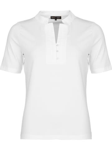 """CadaDIA Bluzka """"Polo Basic"""" w kolorze białym"""