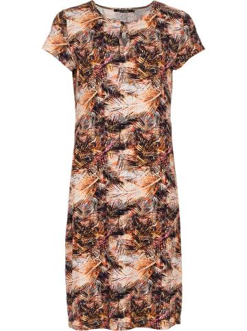 """LA LIGNA Sukienka """"Marsha"""" w kolorze pomarańczowo-kremowo-czarnym"""