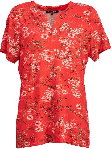 """LA LIGNA Koszulka """"Tape"""" w kolorze czerwonym"""