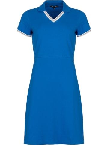"""LA LIGNA Sukienka """"Pique"""" w kolorze niebieskim"""