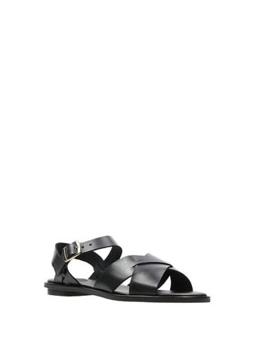 Clarks Skórzane sandały w kolorze czarnym
