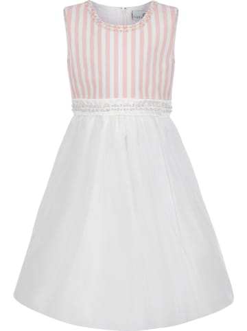 Happy Girls Sukienka w kolorze biało-jasnoróżowym