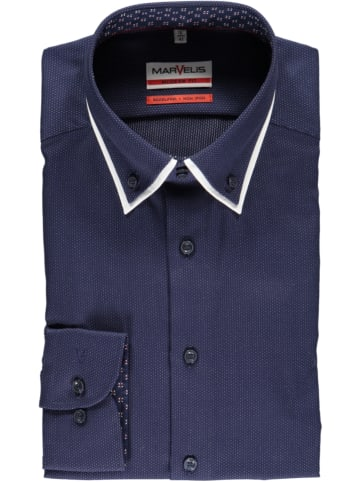 MARVELIS Blouse - modern fit - donkerblauw