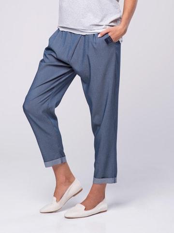 Look Made With Love Spodnie w kolorze ciemnoniebieskim