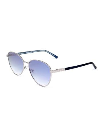 Guess Damen-Sonnenbrille in Silber/ Blau