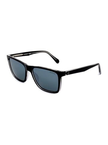 Guess Herren-Sonnenbrille in Schwarz/ Blau