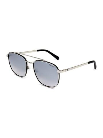 Guess Herenzonnebril zilverkleurig/lichtblauw-lichtroze