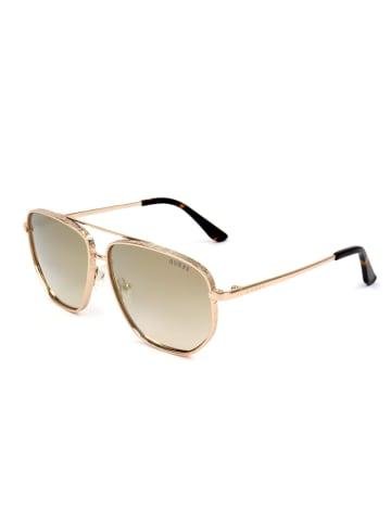 """Guess Okulary przeciwsłoneczne """"GU7635"""" w kolorze złotym"""