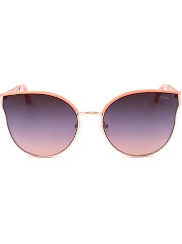 Guess Damskie okulary przeciwsłoneczne w kolorze różowozłoto-fioletowym