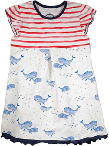 MaxiMo Sukienka w kolorze czerwono-niebiesko-białym