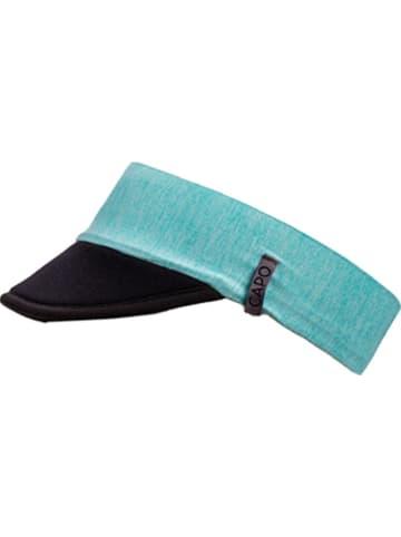 CAPO-authentic headwear Zonneklep turquoise/zwart