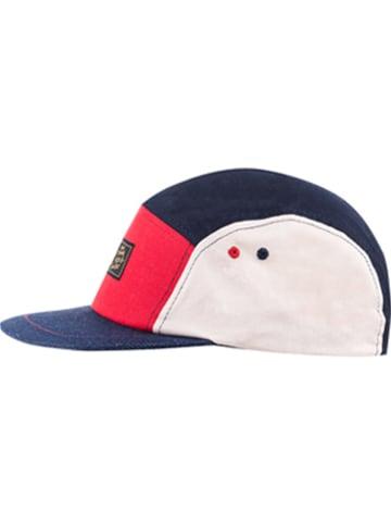 CAPO-authentic headwear Czapka w kolorze granatowo-czerwono-białym