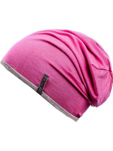 CAPO-authentic headwear Wende-Beanie in Pink