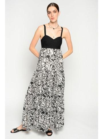 Pinko Sukienka w kolorze czarno-białym ze wzorem